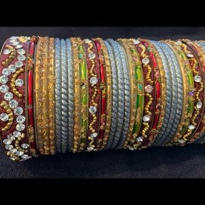 Glass bangles. Size 2.25.
